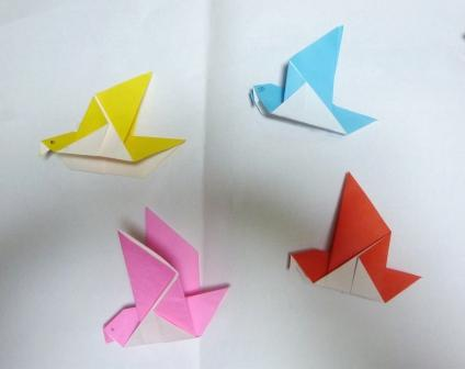 クリスマス 折り紙 折り紙 鳥 : kodomo-kousaku.seesaa.net